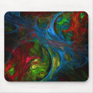 Genese-blaue abstrakte Kunst Mousepad