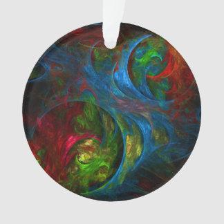 Genese-blauer abstrakter Kunst-Acryl-Kreis Ornament
