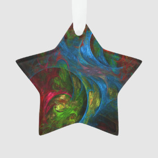 Genese-blauer abstrakter Kunst-Acryl-Stern Ornament