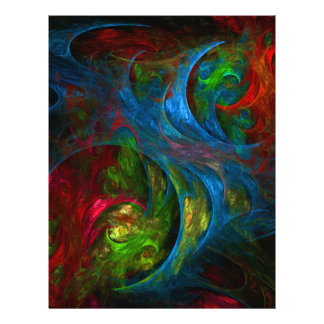 Genese-blauer abstrakter Kunst-Flyer 21,6 X 27,9 Cm Flyer
