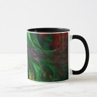 Genese-grüne abstrakte Kaffee-Tasse Tasse