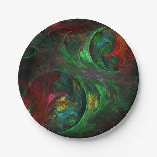 Genese-grüne abstrakte Kunst Pappteller