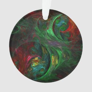 Genese-grüner abstrakter Kunst-Acryl-Kreis Ornament