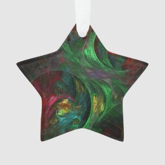 Genese-grüner abstrakter Kunst-Acryl-Stern Ornament