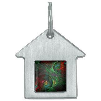 Genese-grünes abstraktes Kunst-Haus Tiermarke