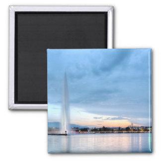 Genf-Brunnen, die Schweiz Quadratischer Magnet