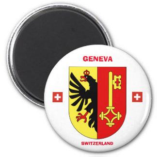 Genf-Wappen Magneten Runder Magnet 5,1 Cm