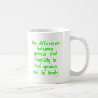 Genie und Dummheit Kaffeetasse