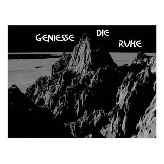 Geniesse die Ruhe enjoy the silence Postkarte