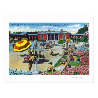 Genießen der Saratoga Wellness-Center-Erholungsstä Postkarten