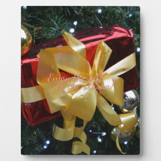 Genießen Sie das Geschenk der Jahreszeit! Fotoplatte