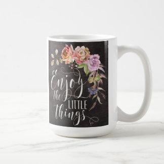 Genießen Sie die kleine Sache-Klassiker-Tasse Kaffeetasse