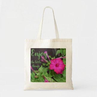 Genießen Sie die kleinen Sachen/die Blumen-Tasche Tragetasche