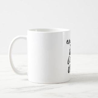 Genießen Sie die Kleinigkeiten - inspirierend Kaffeetasse