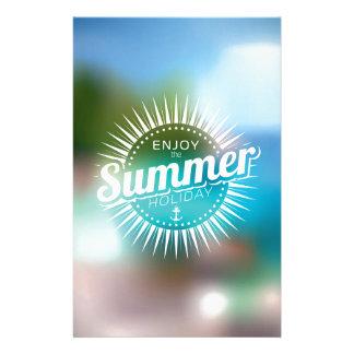 genießen Sie die Sommerferien Personalisierte Druckpapiere
