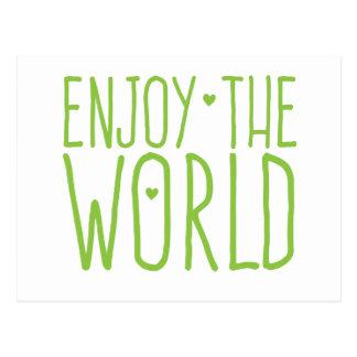 genießen Sie die Welt Postkarte