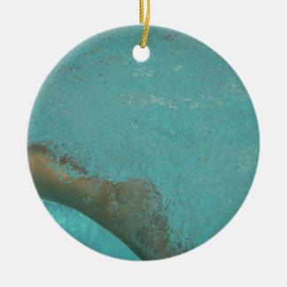 Genießen Sie Ihr Leben Rundes Keramik Ornament