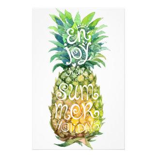 Genießen Sie Ihre tropischen Sommerferien Druckpapiere