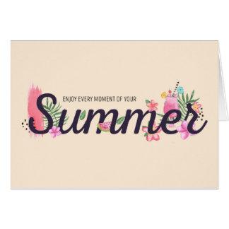 Genießen Sie Ihren Sommer Karte