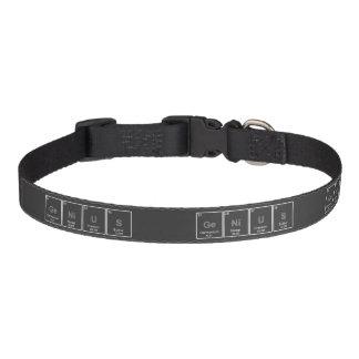 Genietafel-Periodensystem-Elementkragen Hundehalsbänder