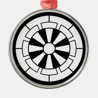 Genji Wagen Rundes Silberfarbenes Ornament