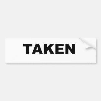 Genommener Slogan Auto Sticker