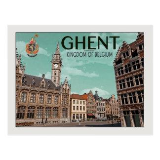 Gent - Korenmarkt Postkarte