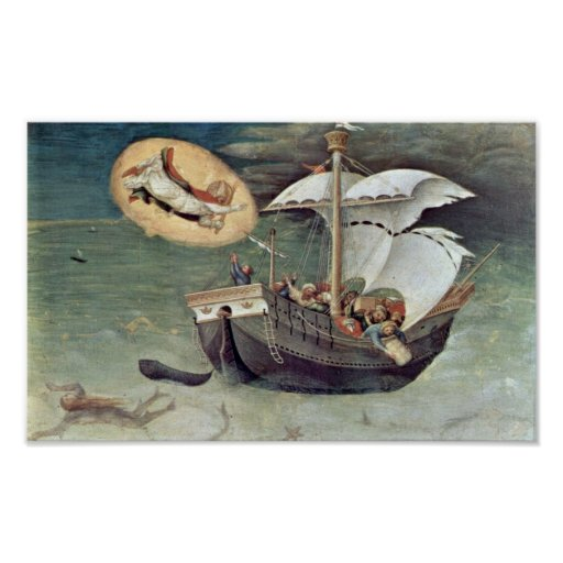Gentile da Fabriano - retten Sie die Seeleute Plakat