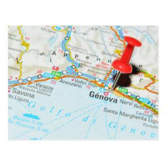 Genua, Italien Postkarte