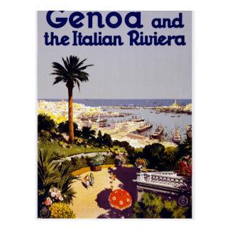Genua und das italienische Rivera Postkarte