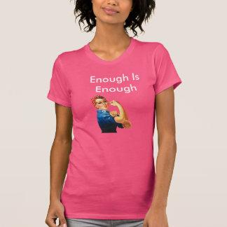 Genug ist genug personalisiert T-Shirt