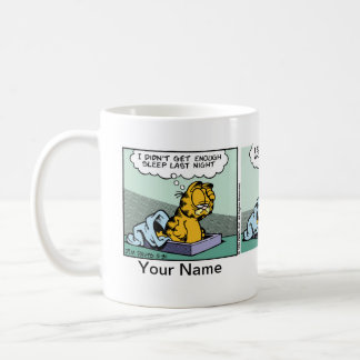 """""""Genug Schlaf-"""" Garfield-Comic-Streifen Kaffeetasse"""