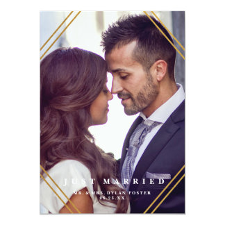 Geo Hochzeitsmitteilungs-Imitatfolie 12,7 X 17,8 Cm Einladungskarte