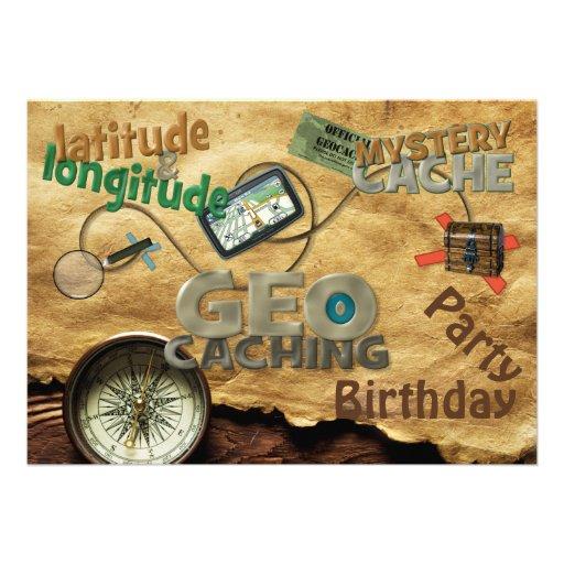 Geocache Party Einladung - fertigen Sie besonders
