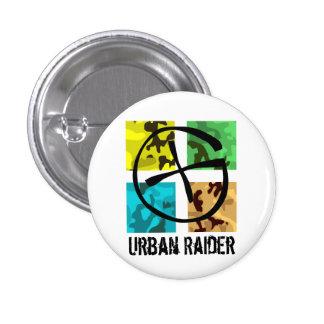 Geocaching städtisches Räuber-Button Runder Button 2,5 Cm