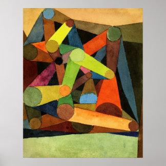 Geöffneter Berg Pauls Klee abstrakt Poster