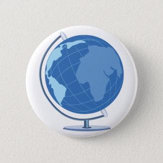 Geografie-Kugel Runder Button 5,7 Cm