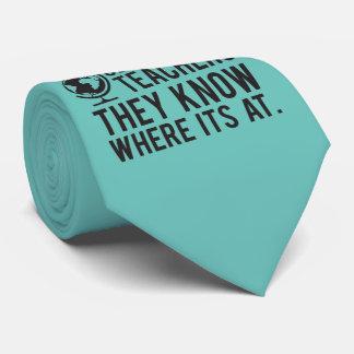Geografie-Lehrer, wissen sie, wo es an ist Krawatte