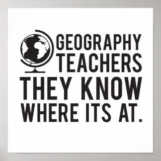 Geografie-Lehrer, wissen sie, wo es an ist Poster