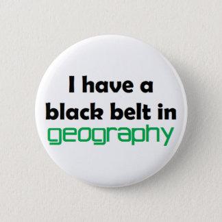Geografie-schwarzer Gürtel Runder Button 5,1 Cm