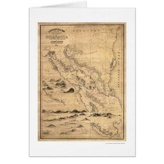 Geographische Nicaragua-Karte 1855 Karte