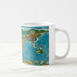 Geographische Weltkarte Kaffeetasse