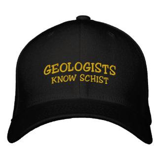 """Geologe-""""Geologen kennen Schiefer-"""" gestickte Bestickte Kappe"""