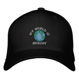 """Geologe """"meine Welt ist Geologie-"""" gestickte Kappe"""