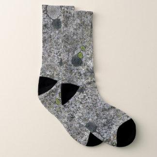 Geologie-dekorative graue Felsen-Beschaffenheit Socken
