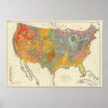Geologische Karte US Poster