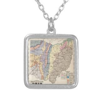 Geologische Karte von Ohio Versilberte Kette