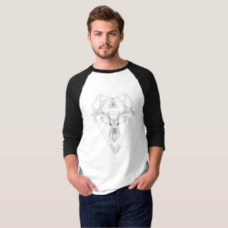 Geometric Deer ,(whit) T-Shirt