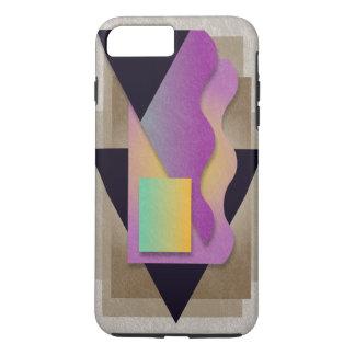 Geometrics auf rauchiger Bronze, grün-orange iPhone 8 Plus/7 Plus Hülle