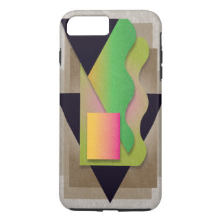 Geometrics auf rauchiger Bronze, iPhone 8 Plus/7 Plus Hülle